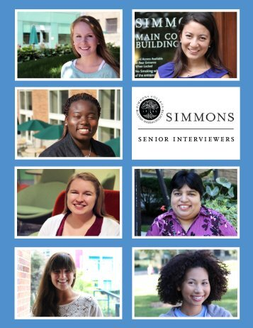 senior interviewers - Simmons College