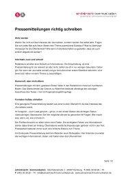 Pressemitteilungen richtig schreiben - schönknecht : kommunikation