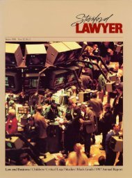 Fall 1988 – Issue 39 - Stanford Lawyer - Stanford University