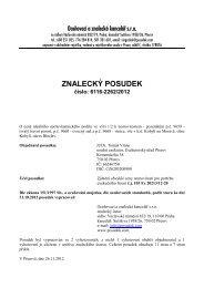 ZNALECKÝ POSUDEK číslo: 6116-2262/2012 - Sreality.cz