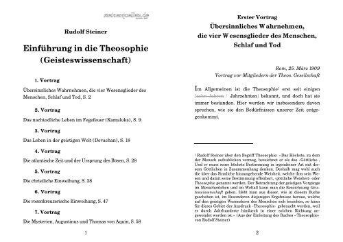 Einführung in die Theosophie ... - Steinerdatenbank
