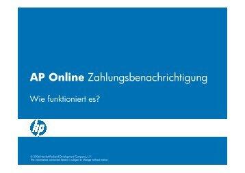 AP Online Zahlungsbenachrichtigung - Hewlett Packard