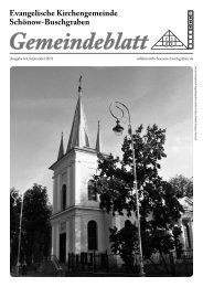 September 2011 - Evangelische Kirchengemeinde Schönow ...