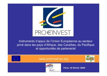 Introduction to ProInvest Investment Conferences Sid Boubekeur ...