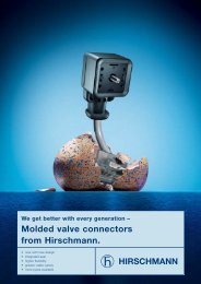 Molded valve connectors from Hirschmann. - AlHof