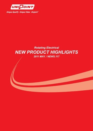 new product highlights - UNIPOINT-Your Best Choice for Starters ...