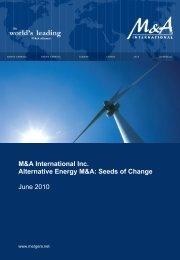 Alternative Energy Sector Report - Western Reserve Partners LLC