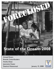 Foreclosed: State of the Dream 2008 - United for a Fair Economy
