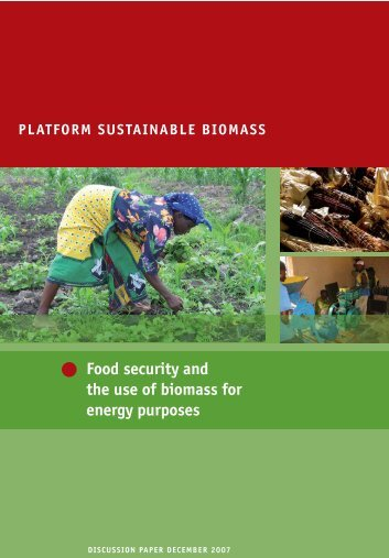 Food security and the use of biomass for energy purposes