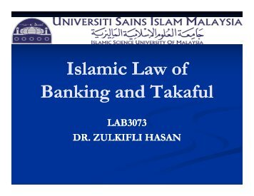 Shariah and legal issues on takaful