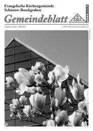 April / Mai 2011 - Evangelische Kirchengemeinde Schönow ...
