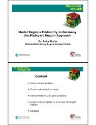 Model Regions E-Mobility in Germany the Stuttgart Region ...