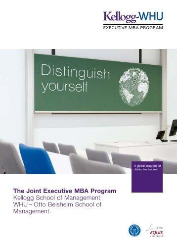 The Joint Executive MBA Program Kellogg School of Management ...