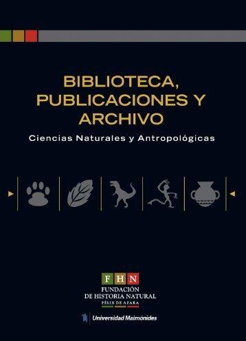 Untitled - Fundación de Historia Natural Félix de Azara