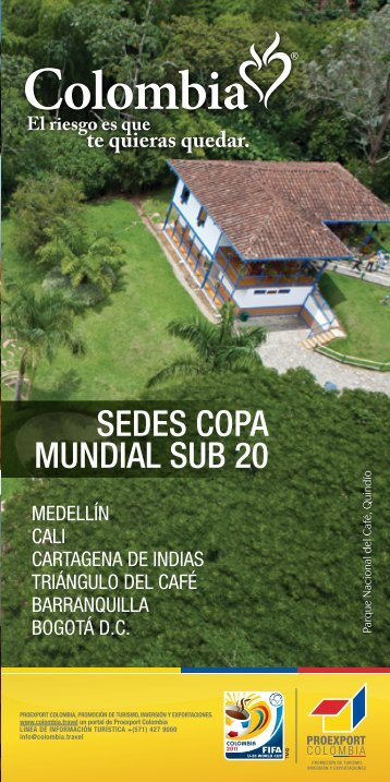 SEDES COPA MUNDIAL SUB 20 - Colombia Travel
