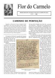 Flor do Carmelo Nº 37 - Ordem dos Padres Carmelitas Descalços