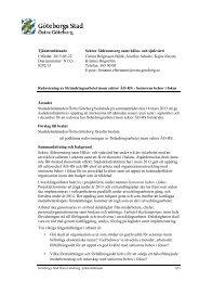 0292/13 Sektor Äldreomsorg samt hälso- och sjukvård ... - Göteborg