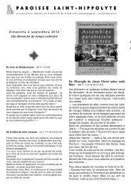 2 septembre 2012 - Paroisse Saint-Hippolyte