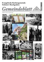 Juni / Juli / August 2011 - Evangelische Kirchengemeinde Schönow ...
