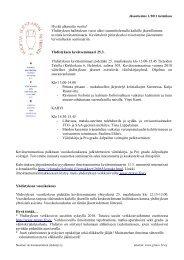 Jäsentiedote 1/2011