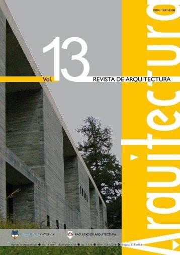 REVISTA DE ARQUITECTURA - Universidad Catolica de Colombia