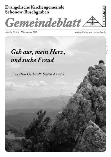 Juni / Juli 2012 - Evangelische Kirchengemeinde Schönow ...