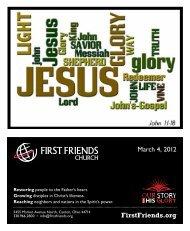 March 4, 2012 - First Friends Church