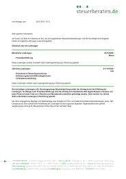 Ihre Anfrage vom 29.07.2013 14:10 Sehr ... - Steuerberaten.de