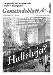 Weihnachten! - Evangelische Kirchengemeinde Schönow ...