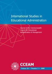International Studies in Educational Administration
