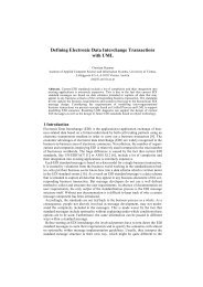 Defining Electronic Data Interchange Transactions with ... - CiteSeerX