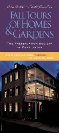 Charleston • South Carolina - Preservation Society of Charleston