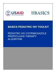 Pediatric HIV Cotrimoxazole Prophylaxis Therapy Algorithm - basics