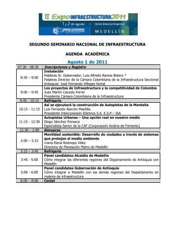 Agosto 1 de 2011 - Cámara Colombiana de la Infraestructura