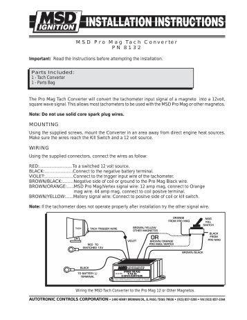 msd-pro-mag-tach-converter-pn-8132-mounting-wiring Msd Pro Mag Ignition Wiring Diagram on system 7 al 2 retard box, digital 6al,