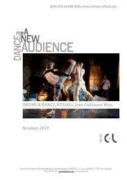 Kreation 2010 DRUMS & DANCE, RITUALS, Jean ... - Le Trois C-L