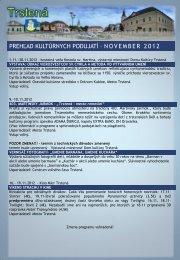 November 2012 - Mesto Trstená