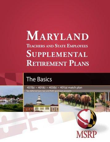 Basics - Maryland Teachers & State Employees Supplemental ...