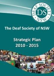 Strategic Plan - The Deaf Society of NSW