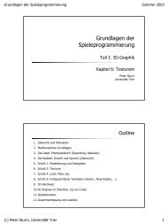Grundlagen der Spieleprogrammierung - Universität Trier
