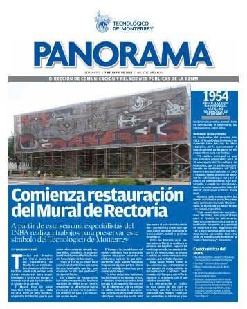 Comienza restauración del Mural de Rectoría - Campus Monterrey ...