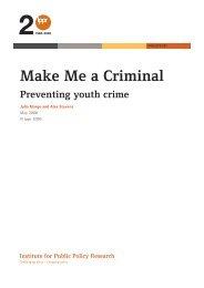 Make Me a Criminal - Rethinking Crime and Punishment