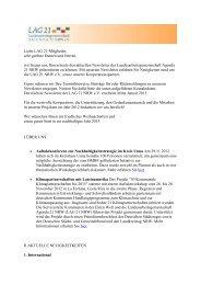 Newsletter Ausgabe Dezember 2012 der LAG 21 NRW