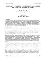 using a multimedia mix to teach concepts of business ... - Asbbs.org