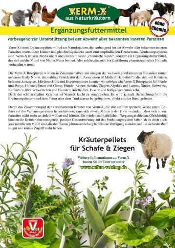 Produktinfo zu Verm-X Pellets für Schafe & Ziegen zum ... - Vetshop