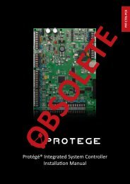Protégé® Integrated System Controller Installation Manual - ICT
