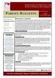 Bulletin 4 - Drouin Secondary College