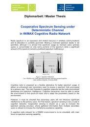 Diplomarbeit / Master Thesis Cooperative Spectrum Sensing under ...