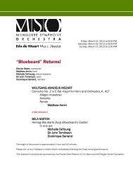 """Bluebeard"" Returns! - Milwaukee Symphony Orchestra"