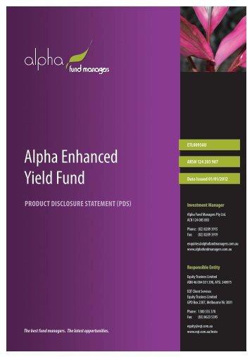 Alpha Enhanced Yield Fund